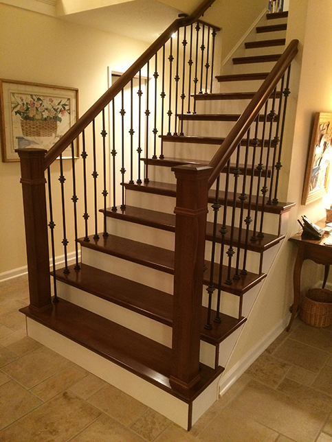 Hardwood stair treads folsom stair woodworks for Staircases types